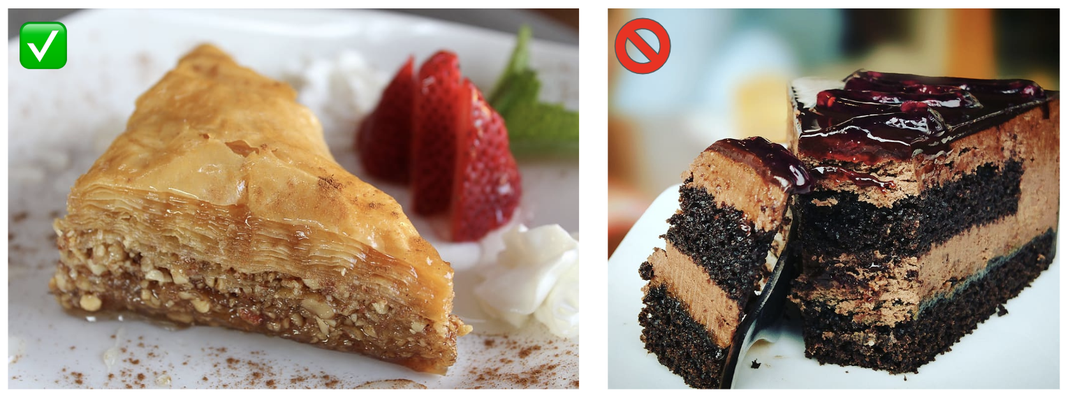 Baklava has more layers than cake.