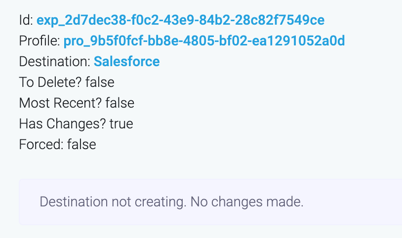 Salesforce info error level