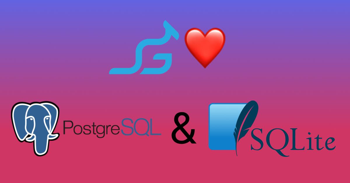 Gropuaroo likes SQLite and Postgres