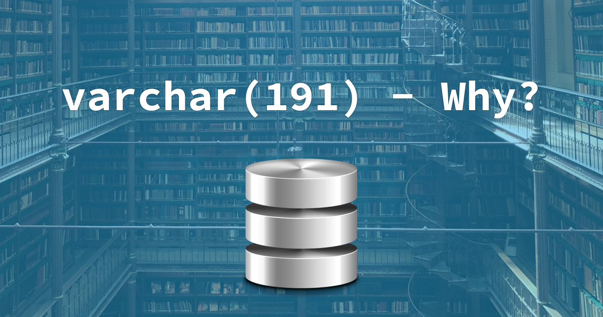 A Database symbol over a library